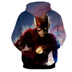 Angry Flash 3D Printed Hoodie - The Flash Jacket - Star Lab Hoodie