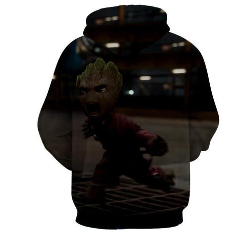 Baby Groot 3D Hoodie - Guardian Of Galaxy Jacket - Hoodielovers