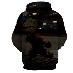 Baby Groot 3D Hoodie - Guardian Of Galaxy Jacket