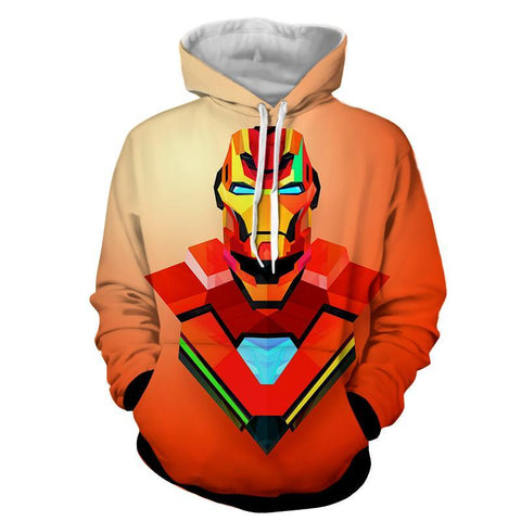 Iron Man 3D Printed Art Hoodie - Hoodielovers