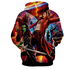 Guardian Of Galaxy 3D Hoodie-Jacket