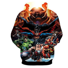 Justice League Super Heros  3D Printed Hoodie