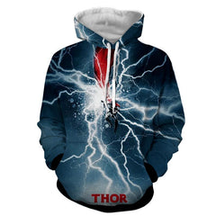 Thor Hoodies - 3D Printed Hoodie - Thor Electric Attack - Hoodielovers