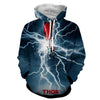 Image of Thor Hoodies - 3D Printed Hoodie - Thor Electric Attack - Hoodielovers