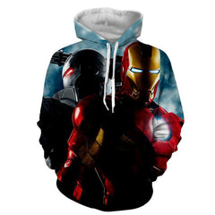 Iron Man & War Machine 3D Printed Hoodie - Hoodielovers