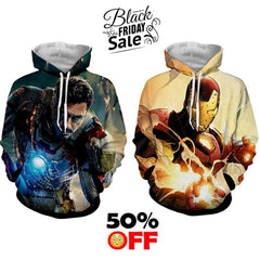 BLACK FRIDAY DEAL #26 - Iron Man 2 Hoodies Bundle - Hoodielovers