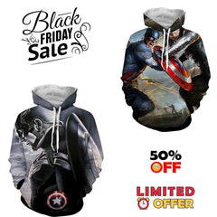 BLACK FRIDAY DEAL - Captain America 2 Hoodies Bundle - Hoodielovers