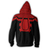 Image of THE SUPERIOR SPIDER - ZIP UP HOODIE - 3D HOODIE - Hoodielovers