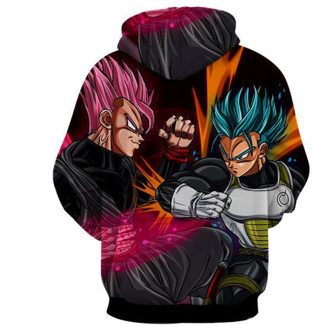 Dragon Ball Super Z Hoodie - God Vegeta & Goku Black Hoodie - Hoodielovers