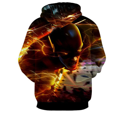 Flying Flash 3D Printed Hoodie - The Flash Jacket - Star Lab Hoodie - Hoodielovers