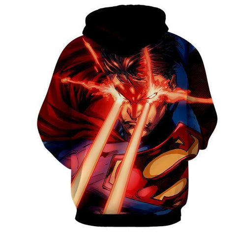 LASER ACTION SUPERMAN 3D HOODIE - Hoodielovers