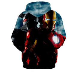 Iron Man & War Machine 3D Printed Hoodie