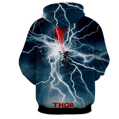 Thor Hoodies - 3D Printed Hoodie - Thor Electric Attack
