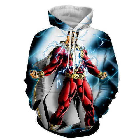 Shazam In Action 3D Hoodie - Jacket - Hoodielovers