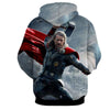 Image of Thor Hoodies - 3D Printed Hoodie - Thor Mjolnir Attack - Hoodielovers