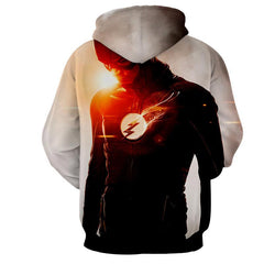 Flash Printed White Hoodie - The Flash Jacket - Star Lab Hoodie