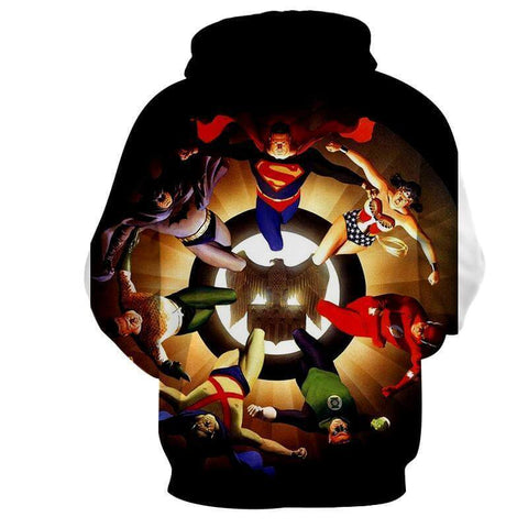 Justice League All Heros Unity 3D Printed Hoodie - Hoodielovers