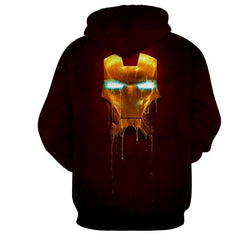 Iron Man Gold Mask 3D Printed Hoodie