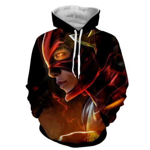 Flash 3D Printed Black Hoodie - The Flash Jacket - Star Lab Hoodie - Hoodielovers