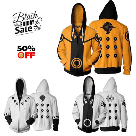 BLACK FRIDAY Naruto Bundle# 5 | Three Zip Up In One - Hoodielovers