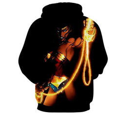 Black Wonder Women 3D Hoodies - Wonder Women Clothing - Jacket