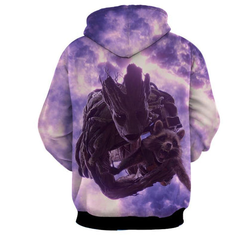 Groot 3D Hoodie-Guardian Of Galaxy Jacket - Hoodielovers