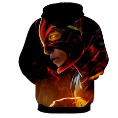 Flash 3D Printed Black Hoodie - The Flash Jacket - Star Lab Hoodie