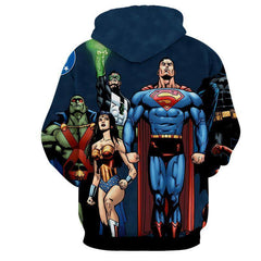 Justice League Heros Grace 3D Printed Hoodie