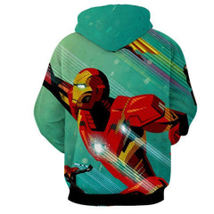 Iron Man & Black Widow 3D Printed Hoodie