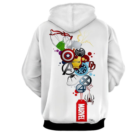 Avengers 3D Printed Hoodie All Super Heros Signs - Hoodielovers
