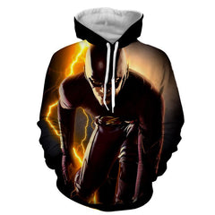 Flash 3D Printed Thunder Hoodie - The Flash Jacket - Star Lab Hoodie - Hoodielovers