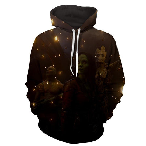 Gamora-Drax-Groot 3D Hoodie-Guardian Of Galaxy Jacket - Hoodielovers