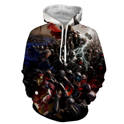 Avengers 3D Printed Hoodie All Super Heros - Hoodielovers