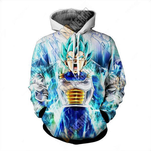 DRAGON BALL SUPER  - SUPER SAIYAN BLUE VEGETA HOODIE - PULLOVER 3D CLOTHING - Hoodielovers