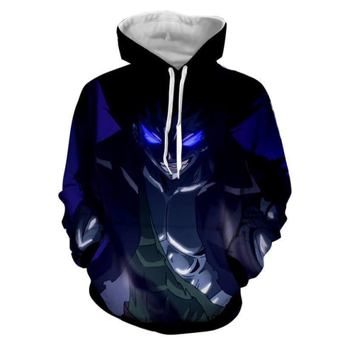 Fairy Tail Hoodie - Gajeel Shadow Dragon Force Mode 3D Hoodie - Hoodielovers