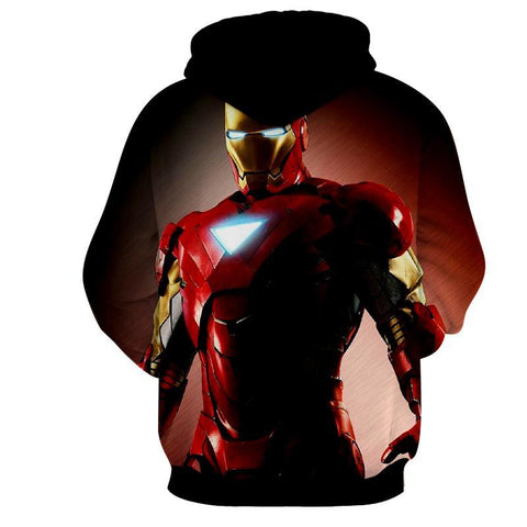 Iron Man Black 3D Printed Hoodie - Hoodielovers