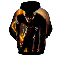 Flash 3D Printed Thunder Hoodie - The Flash Jacket - Star Lab Hoodie