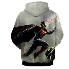 SUPERMAN LASER ACTION AND FIGHTING 3D HOODIE