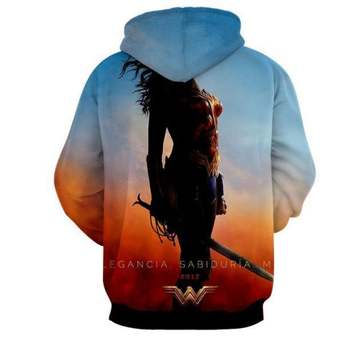 Legancia 2017 Wonder Woman 3D Hoodie - Wonder Women Clothing - Jacket - Hoodielovers