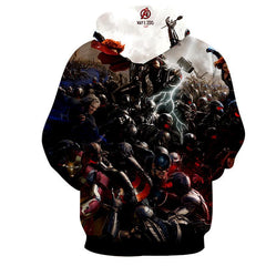 Avengers 3D Printed Hoodie All Super Heros