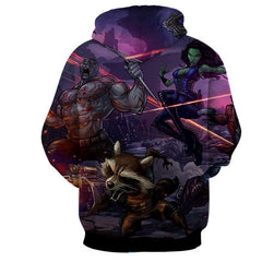 Thanos-Gamora-Rocket Raccoon 3D Hoodie-Guardian Of Galaxy Jacket