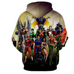 Justice League Legends are together  3D Printed Hoodie