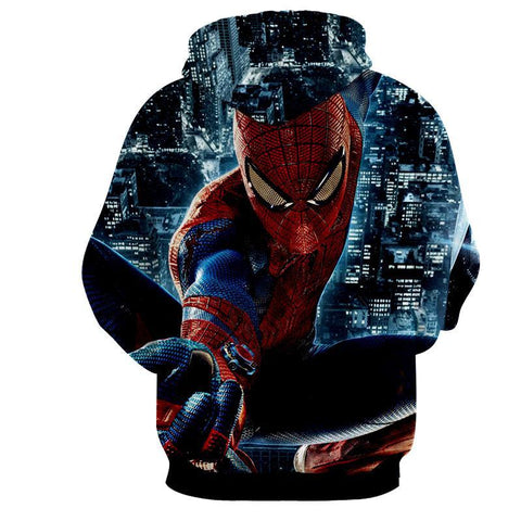 Spiderman Action Night 3D Hoodie - Jacket - Hoodielovers
