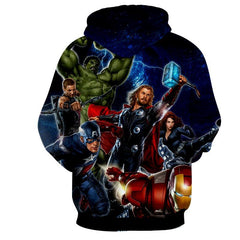 Avengers Marvel 3D Printed Hoodie All Super Heros (Iron Man / Thor / Hulk / Captain America)