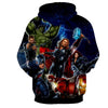 Image of Avengers Marvel 3D Printed Hoodie All Super Heros (Iron Man / Thor / Hulk / Captain America) - Hoodielovers