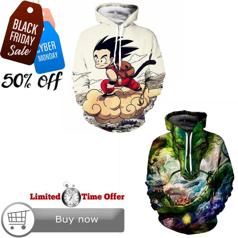 Black Friday / Cyber Monday Deal #2 | Dragon Ball Z | 2 Hoodies Bundle - Hoodielovers