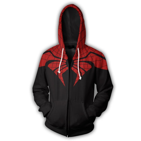 THE SUPERIOR SPIDER - ZIP UP HOODIE - 3D HOODIE - Hoodielovers