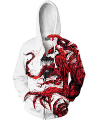 Red Venom Spiderman 3D Hoodie- Jacket