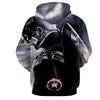 Image of Captain America 3D Printed Black & White Hoodie - Hoodielovers