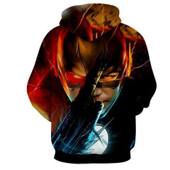 Flash In Action 3D Printed Hoodie - The Flash Jacket - Star Lab Hoodie